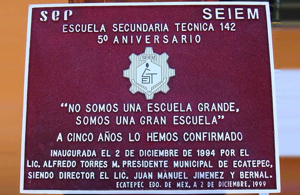 SEP EST142 - Placa fundida