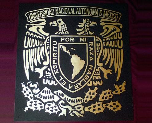 ESCUDO UNAM - Escudo fundido
