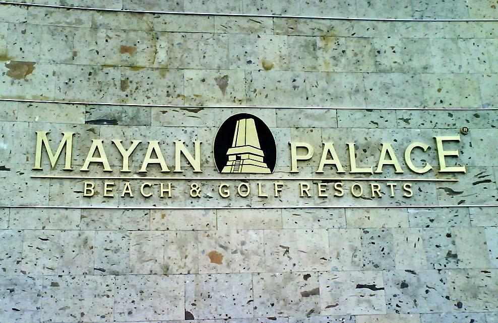 MAYAN PALACE - Letras y logotipos fundidos