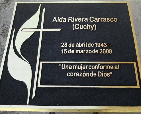 AIDA RIVERA - Placa fundida