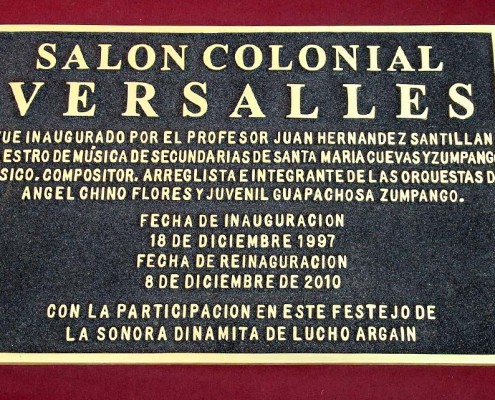 SALON COLONIAL VERSALLES - Placa fundida