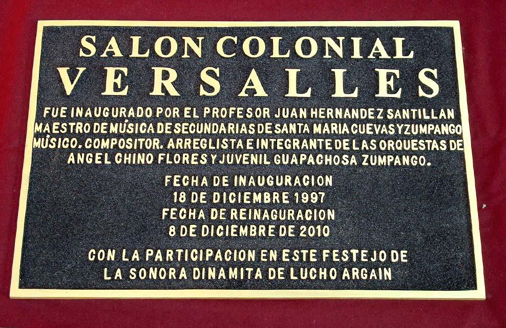 SALON COLONIAL VERSALLES - Placa fundida