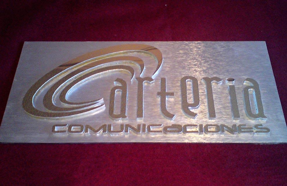 ARTERIA COMUNICACIONES - Letrero calado
