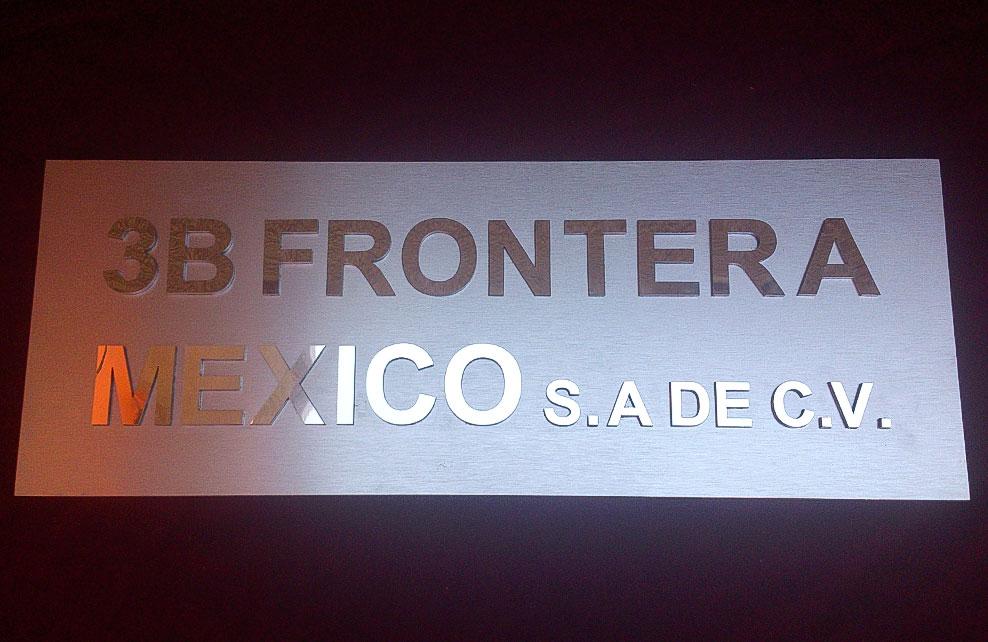 3B FRONTERA MEXICO - Letrero calado