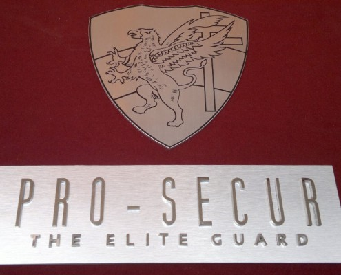 PRO-SECUR - Letrero calado 1
