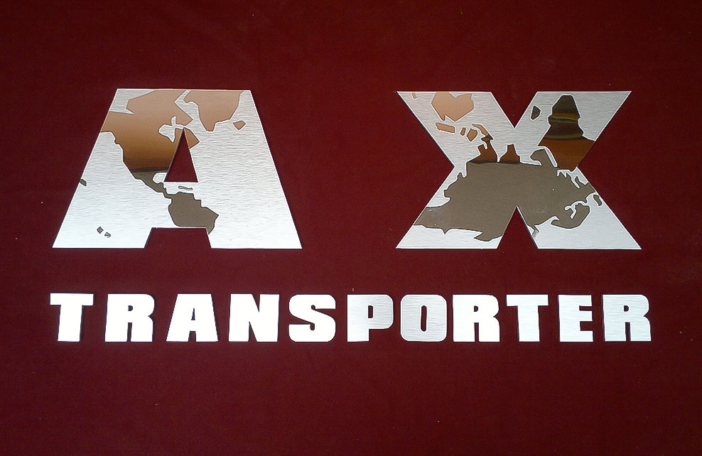 AX TRANSPORTER - Letrero calado 1