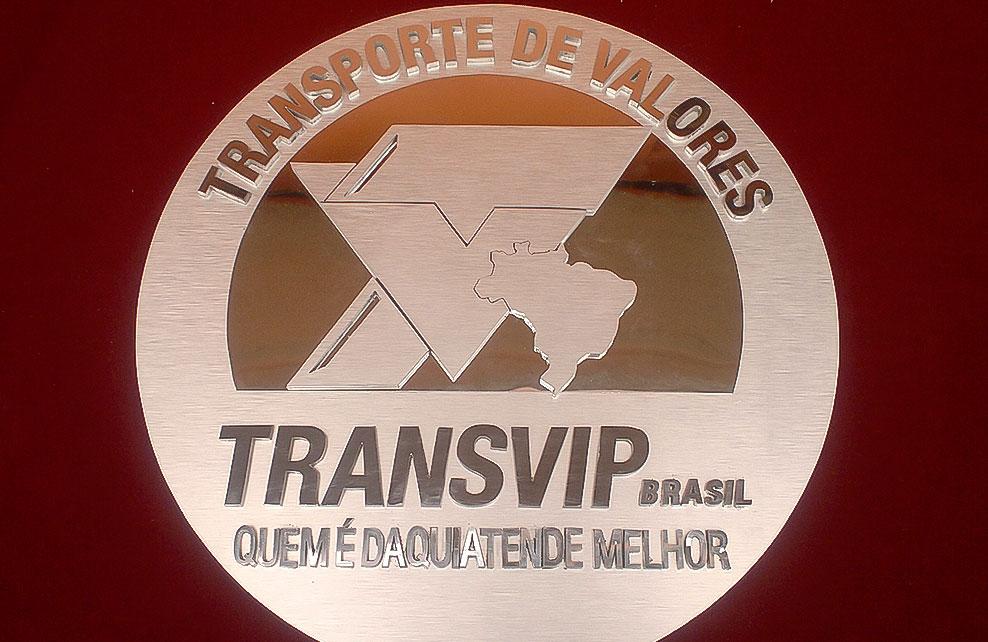 TRANSVIP - Letrero calado