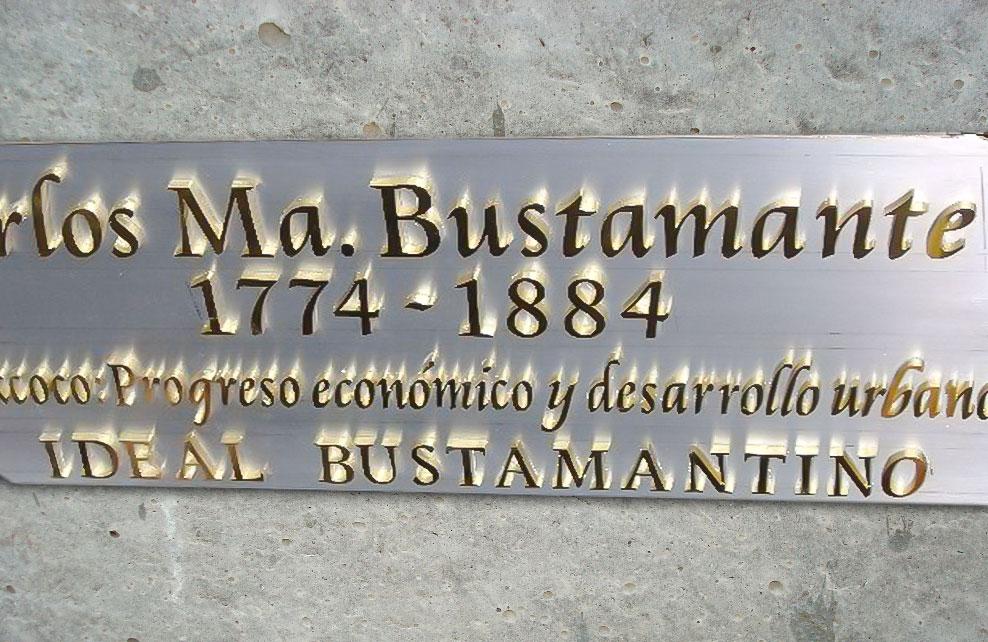 CARLOS MA. BUSTAMANTE - Letras caladas