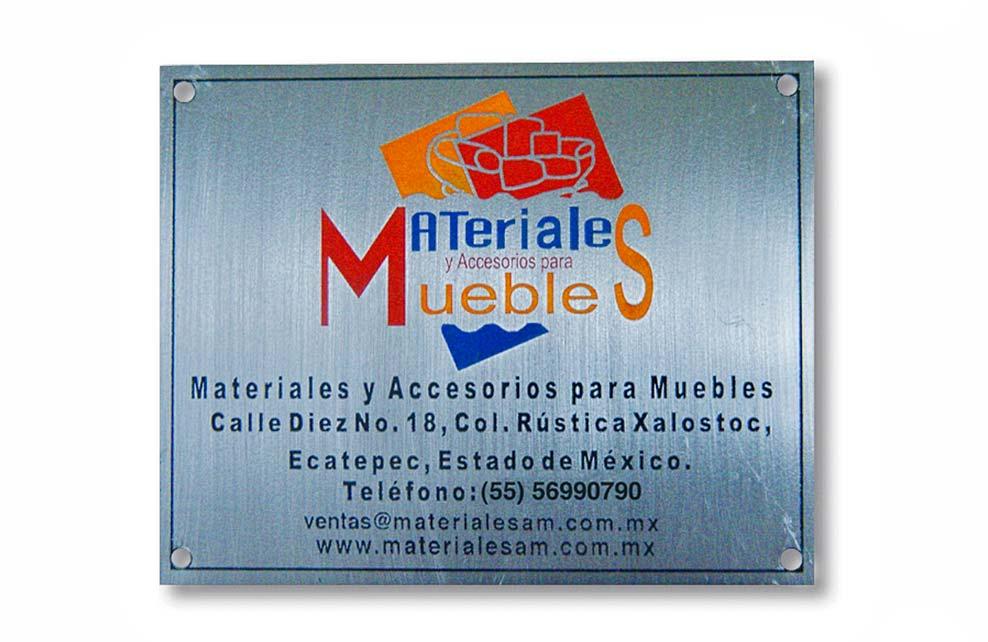 MATERIALES Y ACCESORIOS PARA MUEBLES - Placas fotograbadas
