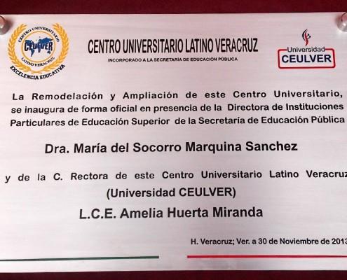 CENTRO UNIVERSITARIO LATINO VERACRUZ - Placa fotograbada