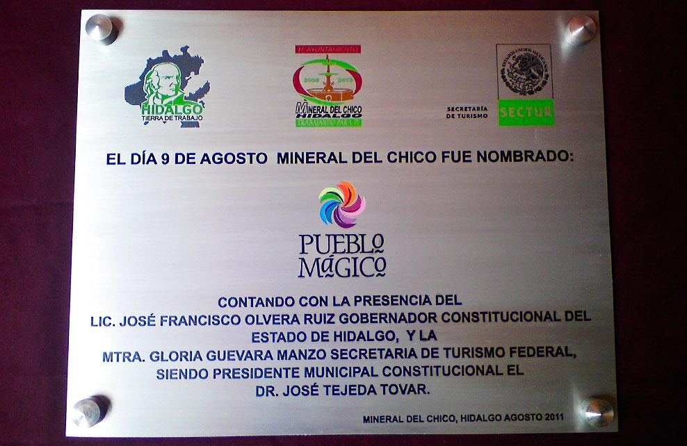 H. AYUNTAMIENTO MINERAL DEL CHICO - Placa fotograbada 1