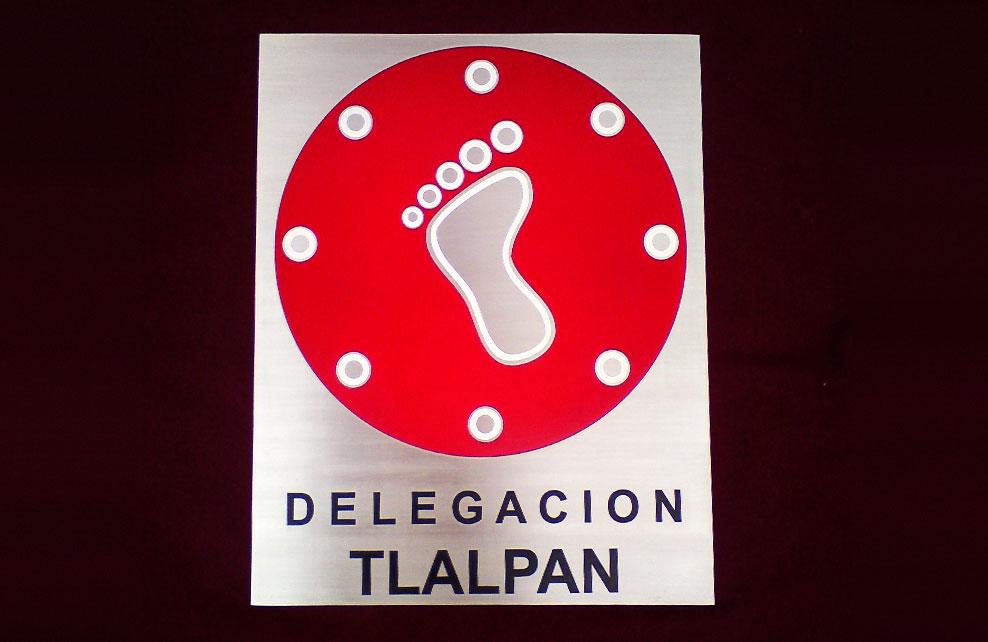 DELEGACION TLALPAN - Placa fotograbada