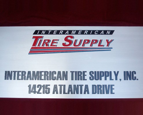 INTERAMERICAN TIRE SUPPLY - Placa fotograbada 1
