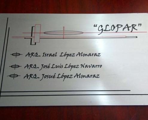 GLOPAR - Placa fotograbada