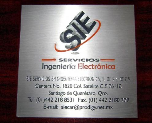 SIE - Placa fotograbada