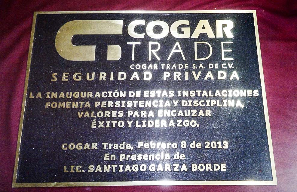COGAR TRADE - Placa fundida