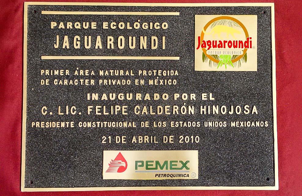PARQUE ECOLÓGICO JAGUAROUNDI - Placas fundidas 1