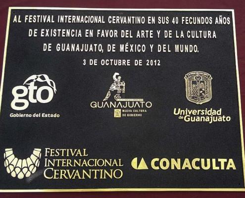 FESTIVAL INTERNACIONAL CERVANTINO - Placa fundida 1