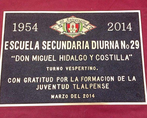 ESCUELA SECUNDARIA DIURNA No 29 - Placa fundida 1