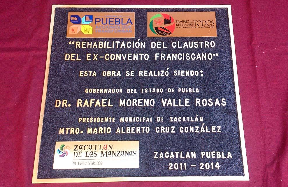 MUNICIPIO DE ZACATLÁN - Placas fundidas 1