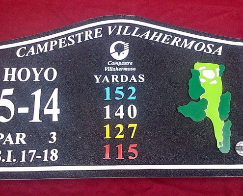 CLUB CAMPESTRE VILLAHERMOSA - Placa y monedas fundidas 1