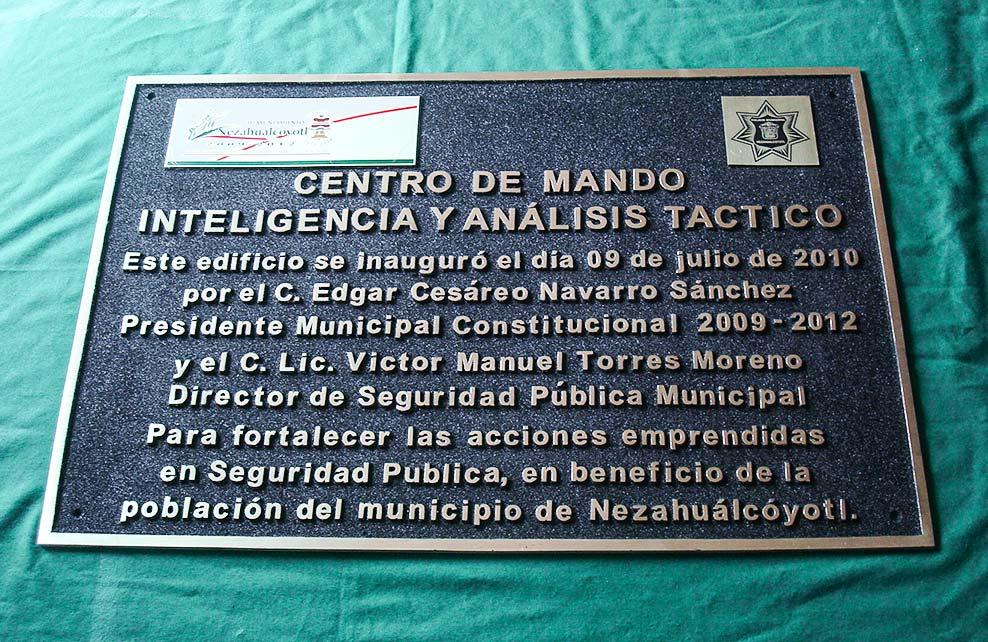 MUNICIPIO DE NEZAHUALCÓYOTL - Placa fundida