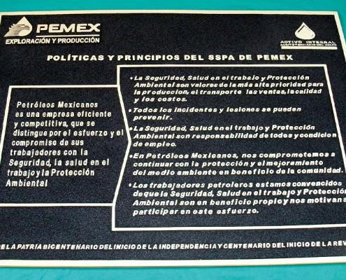 PEMEX - Placa fundida